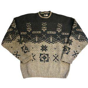 Woolrich Wool Sweater Vintage 90s Western Aztec L